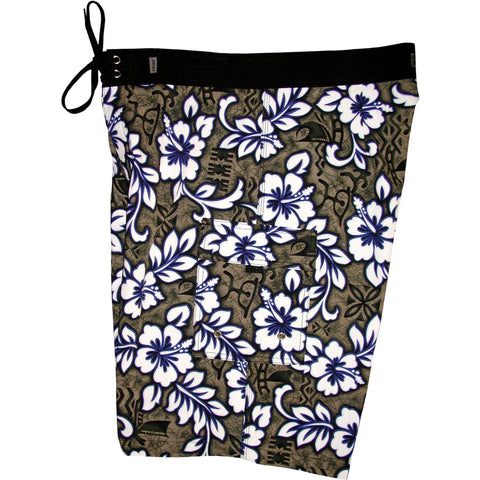 """Picture Show"" Mens Board Shorts - 22"" Outseam / 9.5"" Inseam (Charcoal) *SALE* - Board Shorts World"