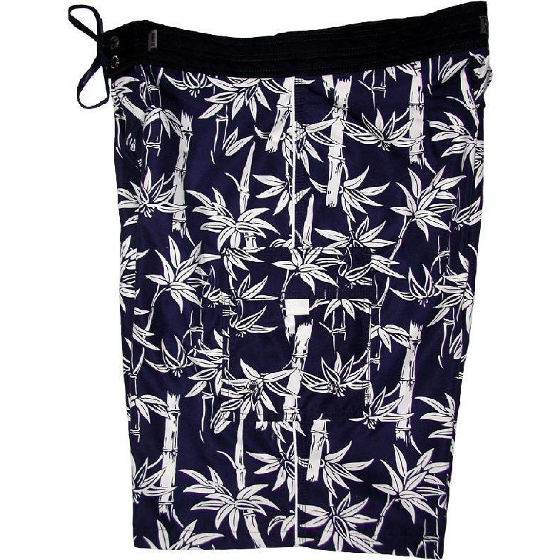 """Branch Out"" Mens Board Shorts - 22"" Outseam / 9.5"" Inseam (Navy) - Board Shorts World"