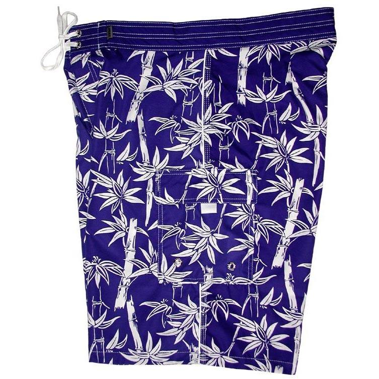 """Branch Out"" Mens Board Shorts - 22"" Outseam / 9.5"" Inseam (Royal) - Board Shorts World"