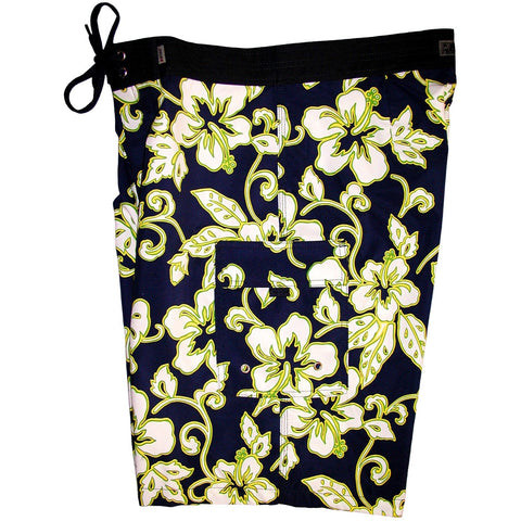 """Elemental"" Mens Board Shorts - 22"" Outseam / 9.5"" Inseam (Navy) *SALE* - Board Shorts World"