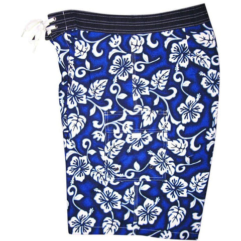 """Fiasco"" Mens Board Shorts - 22"" Outseam / 9.5"" Inseam (Blue or Green) *SALE* - Board Shorts World - 1"