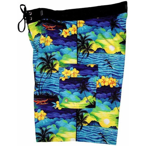 """Picture This"" Mens Board Shorts - 22"" Outseam / 9.5"" Inseam (Blue or Purple) - Board Shorts World - 1"