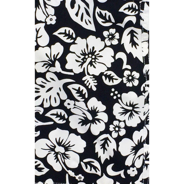 """Pure Hibiscus Too"" Womens Board Shorts - Regular Rise / 10.5"" Inseam (Royal, Red, or Black+White) **SALE** - Board Shorts World - 3"
