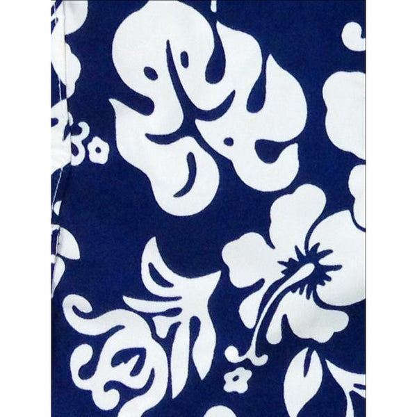"""Pure Hibiscus"" Girls Board Shorts - 5"" Inseam (Purple, Black, or Navy) - Board Shorts World - 3"