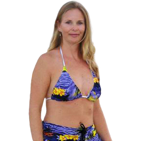 """Picture This"" Beach + Ocean Scenic Print Bikini Top (Purple, Blue or Charcoal) - Board Shorts World"