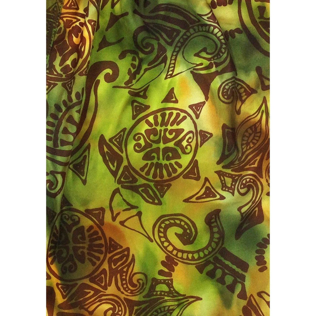 "Fixed (Non Elastic) Waist Womens Board Shorts ""Pacific Whim"" (Earth) * CUSTOM * - Board Shorts World"