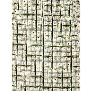 """Jetson Plaid"" 100% Cotton Dobby Board Shorts - Regular Rise / 7"" Inseam (Green) *SALE*"