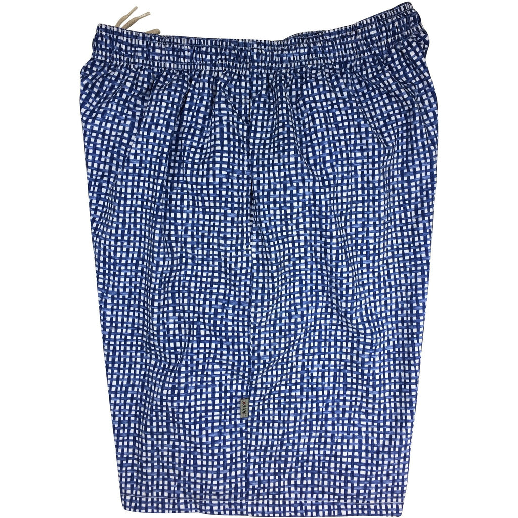 """Dream Weaver"" Mens Swim Trunks (with mesh liner) - 22"" Outseam / 9.5"" Inseam (Blue)"