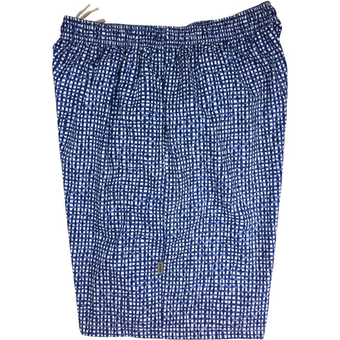 """Dream Weaver"" Mens Swim Trunks (with mesh liner) - 22"" Outseam / 9.5"" Inseam (Blue) **SALE**"
