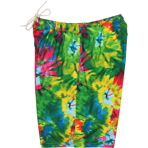 """Love 'n Haight"" Tie Dye Mens Swim Trunks (with mesh liner) - 22"" Outseam / 9.5"" Inseam - Board Shorts World"