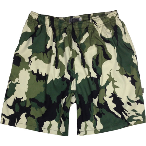 """Stealth Fanatic"" Camo Mens Swim Trunks (with mesh liner) - 22"" Outseam / 9.5"" Inseam - Choose from 6 colors! - Board Shorts World - 1"