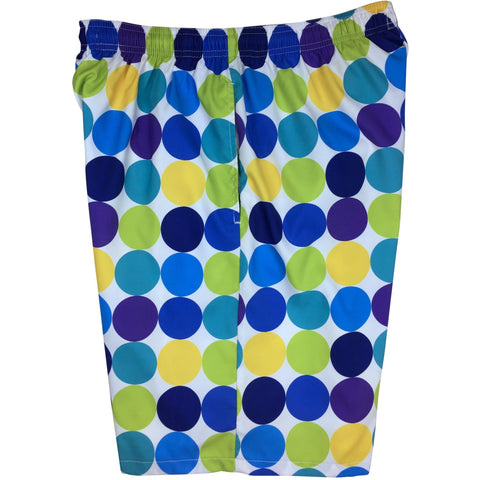 """Twister"" Mens Swim Trunks (with mesh liner) - 22"" Outseam / 9.5"" Inseam (The Blues)"