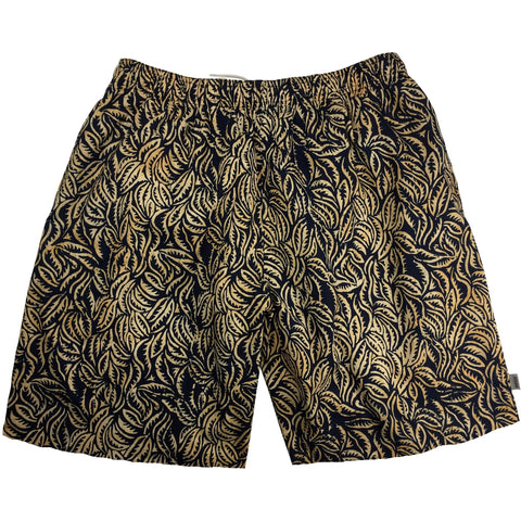 "100% Cotton Batik ""Hyperleaf"" Mens Swim Trunks (with mesh liner) - 19"" Outseam / 6.5"" Inseam"