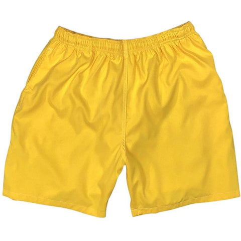 """A Solid Color"" Mens (6.5"" Inseam / 19"" Outseam) Swim Trunks (Mango) **SALE**"