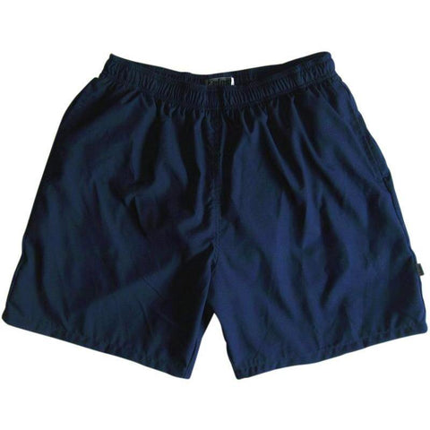 """A Solid Color"" Men's Swim Trunk (with mesh liner). 6.5"" Inseam / 19"" Outseam (Navy) - Board Shorts World"