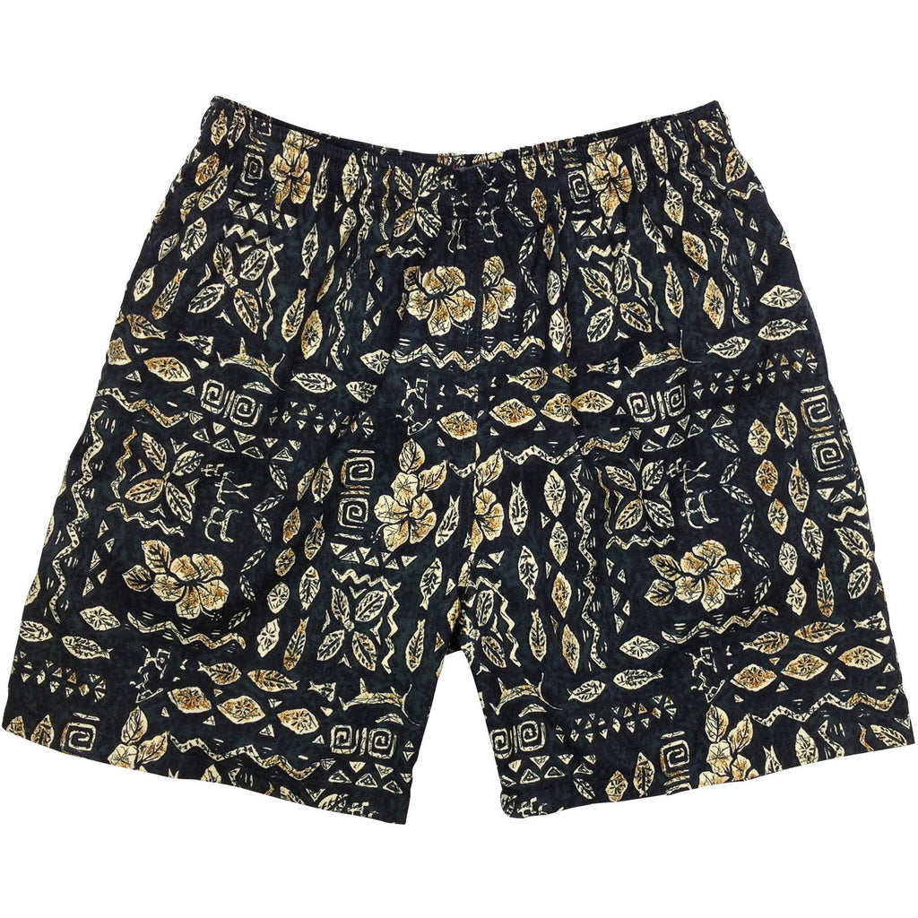 """Man's Best Friend"" Mens (6.5"" Inseam / 19"" Outseam) Swim Trunks (Charcoal) - Board Shorts World"
