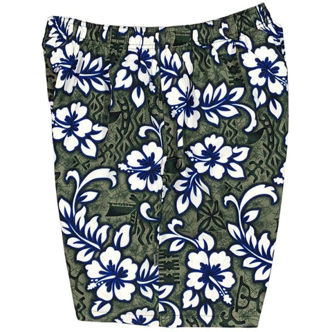 """Picture Show"" Mens (6.5"" Inseam / 19"" Outseam) Swim Trunks (Charcoal)"
