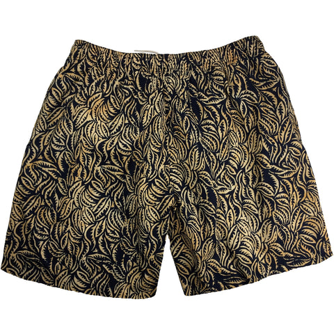 "100% Cotton Batik ""Hyperleaf"" Mens Swim Trunks (with mesh liner) - 17"" Outseam / 4.5"" Inseam"