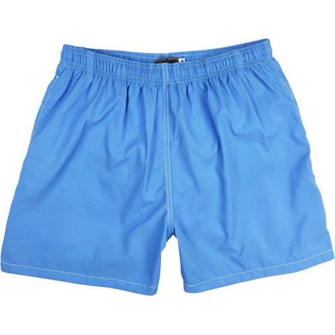 """A Solid Color"" (Baby Blue) Mens Swim Trunks (with mesh liner) - 17"" Outseam / 4.5"" Inseam"