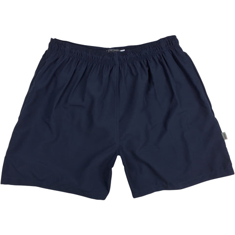 """A Solid Color"" XELOS Brand (Navy) Mens Swim Trunks (with mesh liner) - 17"" Outseam / 4.5"" Inseam"