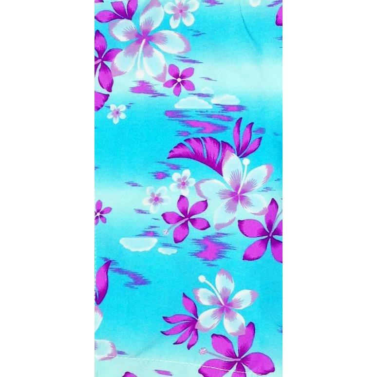 """Soul Salvation""  Womens Board (Swim) Capris - NON Elastic Waist + Regular Rise + 23"" Inseam (Aqua) - Board Shorts World"