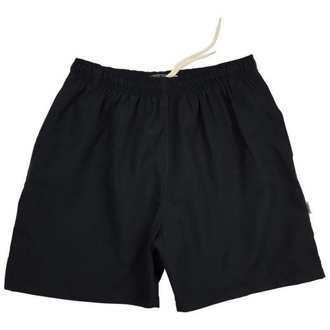 """A Solid Color"" (Black) Mens Swim Trunks (with mesh liner) - 17"" Outseam / 4.5"" Inseam"