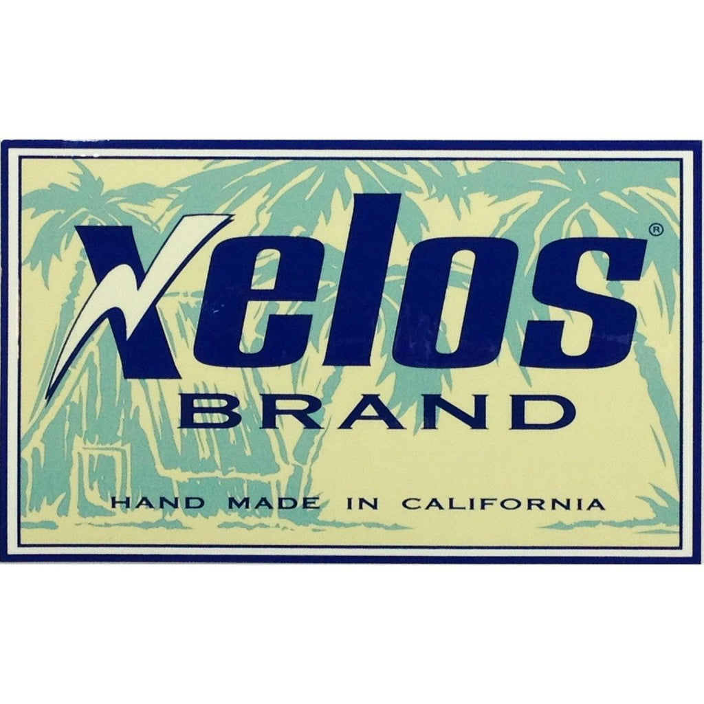 "XELOS Brand ""Handmade in California"" Sticker - Board Shorts World"