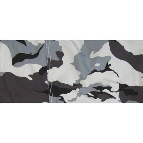"""Stealth Fanatic"" Camo Mens Swim Trunks (with mesh liner) - 22"" Outseam / 9.5"" Inseam (Charcoal)"