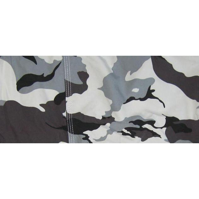 """Stealth Fanatic""  Womens Board (Swim) Camo Capris - NON Elastic Waist + Regular Rise + 23"" Inseam (Charcoal) - Board Shorts World"