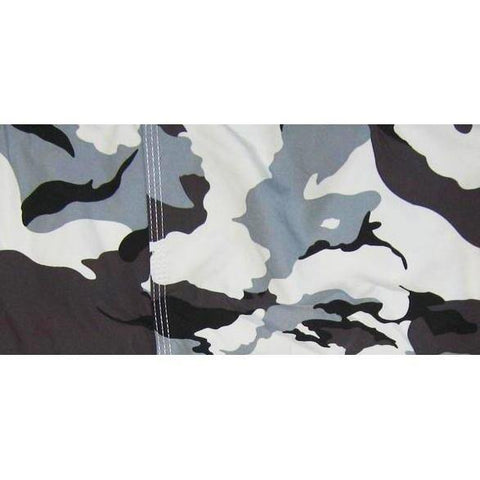 """Stealth Fanatic"" (Charcoal) Camo Mens Elastic Waist Board Shorts - 9"" Inseam *SALE* - Board Shorts World"