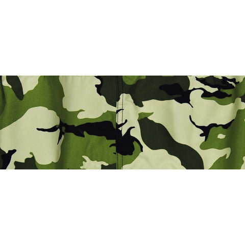 """Stealth Fanatic"" Camo Mens Elastic Waist Board Shorts - 22"" Outseam / 9.5"" Inseam (Moss) - Board Shorts World"