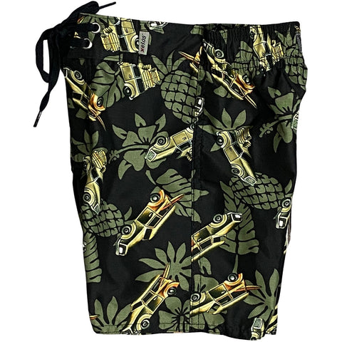 """One for the Road"" Toddler Board Short  (Olive)"
