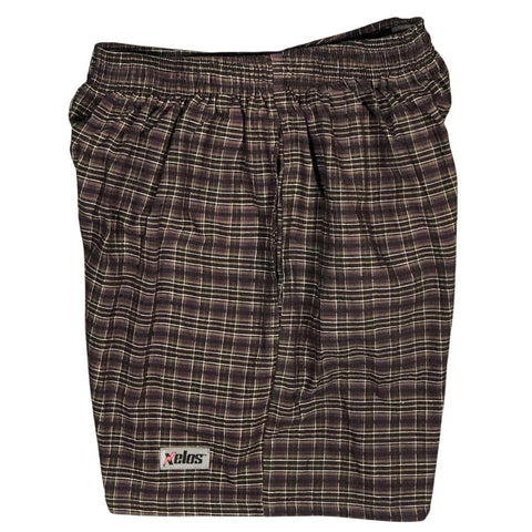 "100% Cotton Seersucker Mens (6.5"" Inseam / 19"" Outseam) Swim Trunks"
