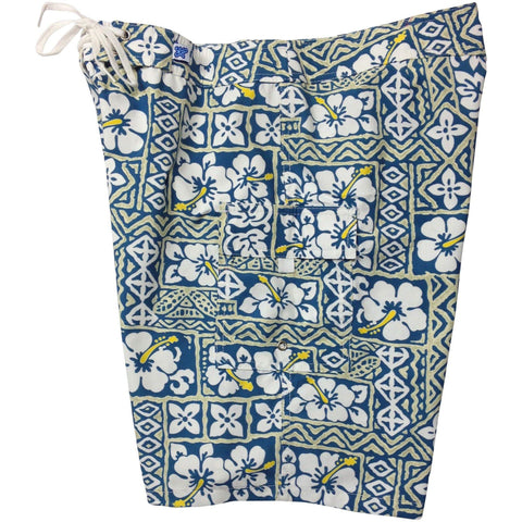 """Background Check"" Womens Board Shorts - Regular Rise / 10.5"" Inseam (Sea Teal) - Board Shorts World"