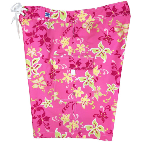 """Chick Flick"" Womens Board Shorts - Regular Rise / 10.5"" Inseam (Pink)  *SALE*"