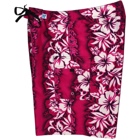 """Conga Line"" Women's Plus Size Board Shorts - Regular Rise / 10.5"" Inseam (Pink) *SALE*"