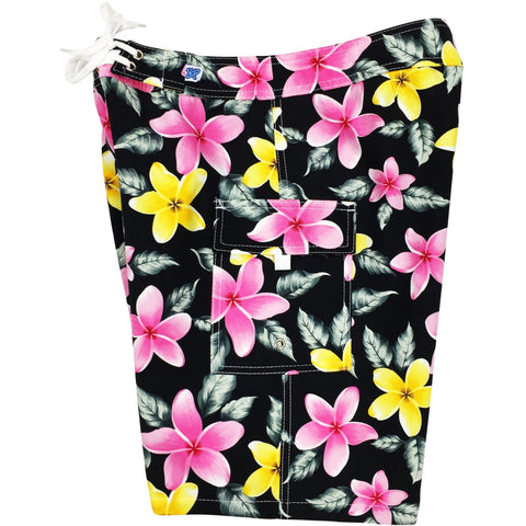 """Free Roaming"" Girls Board (Swim) Shorts - 8.5"" Inseam (Black) - Board Shorts World"