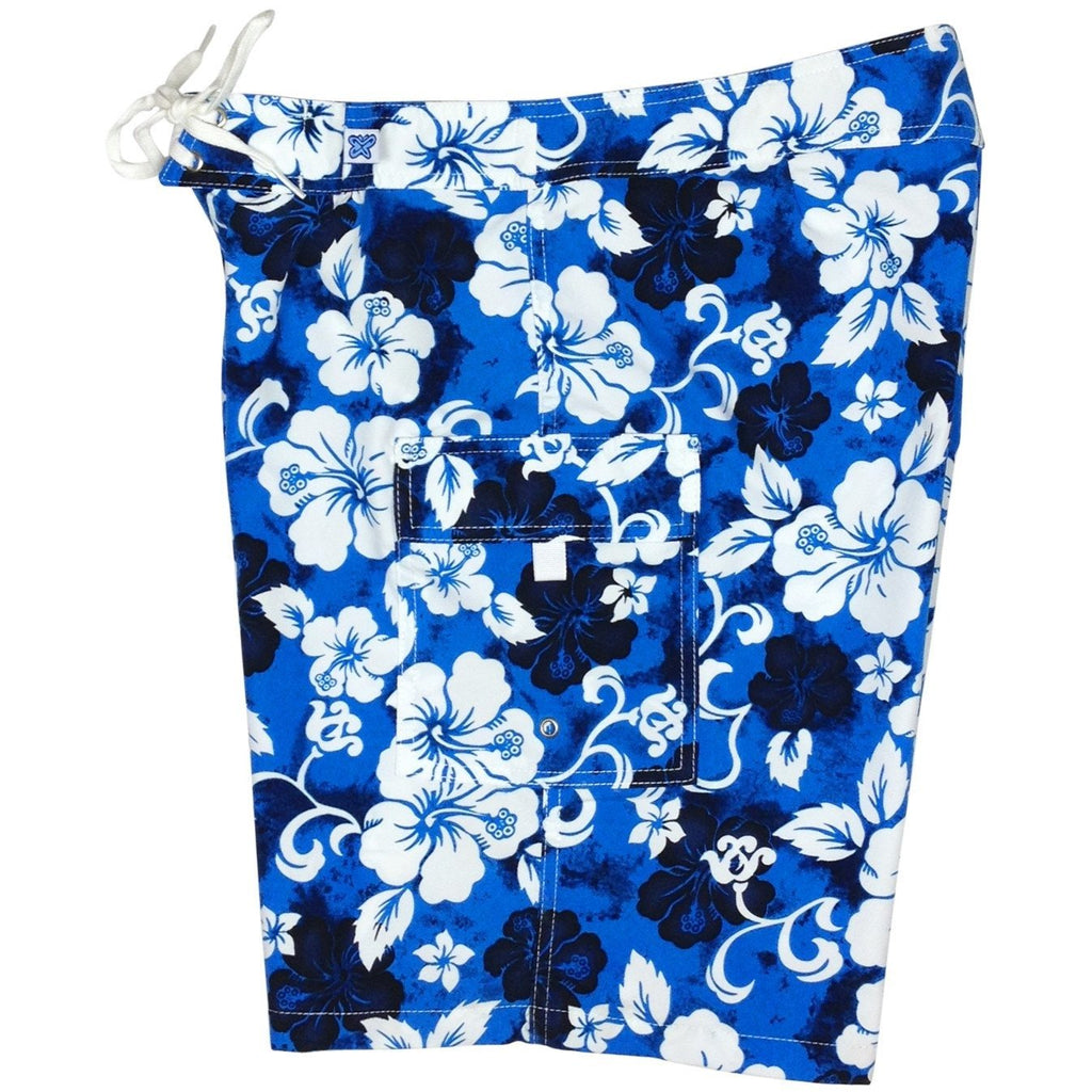 """Jungle Boogie"" Womens Board Shorts - Regular Rise / 10.5"" Inseam (Blue, Orange, or Red) - Board Shorts World - 1"