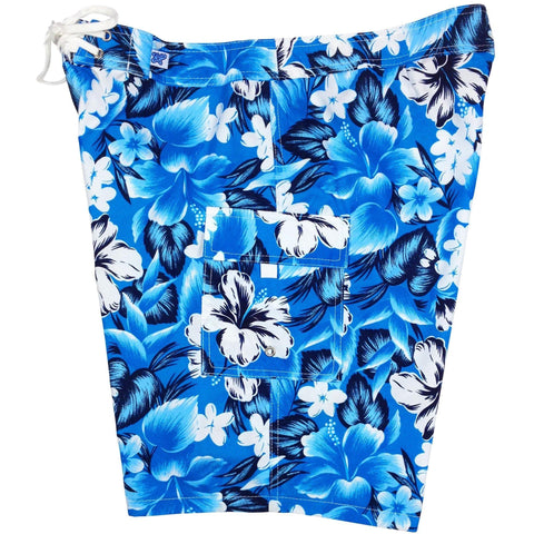 """Jungle Juice"" Girls Board (Swim) Shorts - 8.5"" Inseam (Sky or Royal) - Board Shorts World - 1"