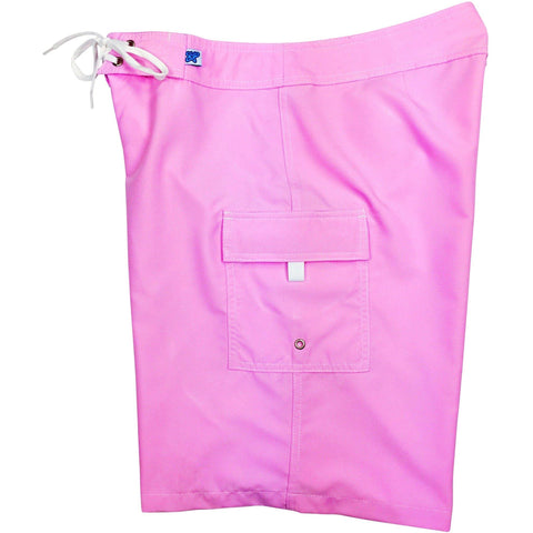 """A Solid Color"" Women's Board Shorts - Regular Rise / 10.5"" Inseam (Light Pink) - Board Shorts World"