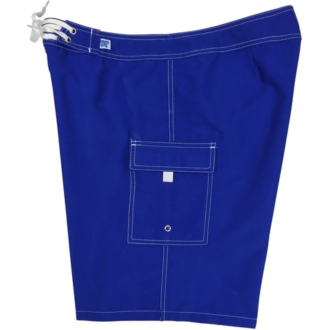 """A Solid Color"" Women's Board Shorts - Regular Rise / 10.5"" Inseam (Royal, Turquoise, or Powder) - Board Shorts World - 1"