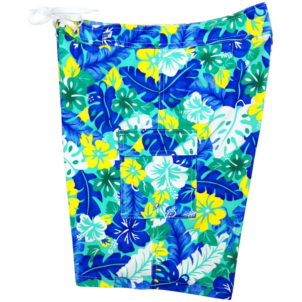 """Mother Lode"" Womens Board Shorts - Regular Rise / 10.5"" Inseam (Blue or Pink) - Board Shorts World - 1"