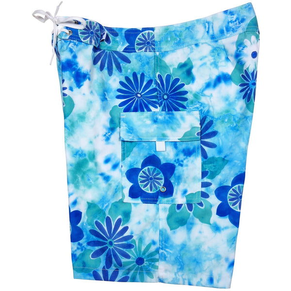 """Painted Desert""  Womens Board Shorts - Regular Rise / 10.5"" Inseam (Aqua or Berry) - Board Shorts World - 1"