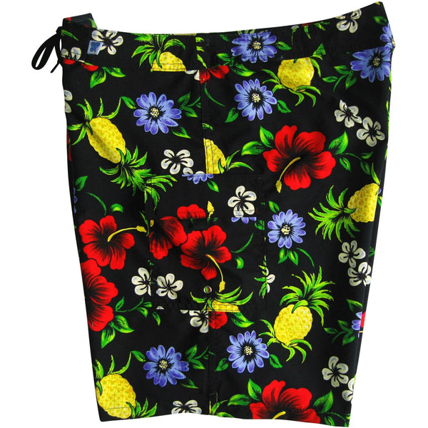 """Sangria"" Womens Board Shorts - Regular Rise / 10.5"" Inseam (Black or Green) - Board Shorts World - 1"