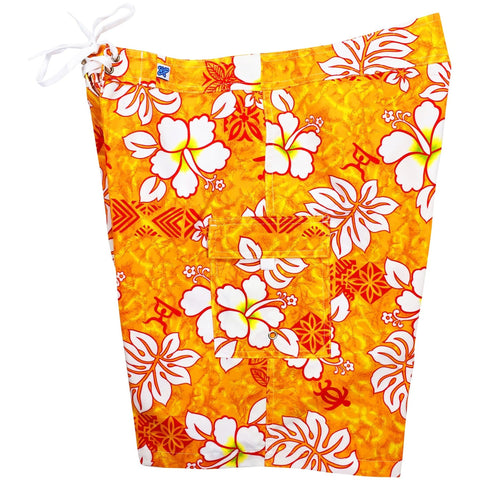 """Tribal Council ""Womens Board Shorts - Regular Rise / 10.5"" Inseam (Orange) - Board Shorts World"