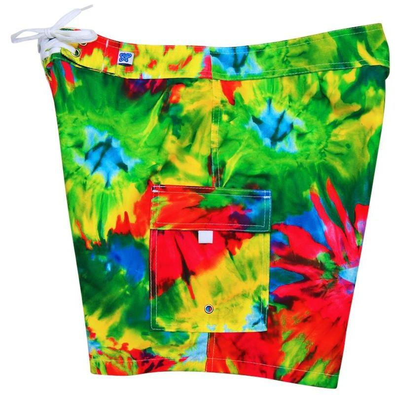"""Love N Haight"" Tie Dye Womens Board Shorts - Regular Rise / 7"" Inseam - Board Shorts World"