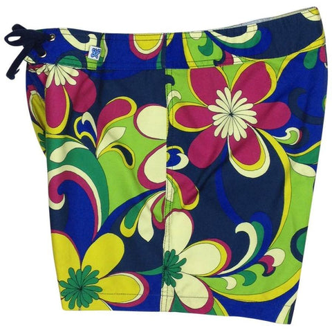 """Art Fest"" Girls Board Shorts - 5"" Inseam - Board Shorts World"