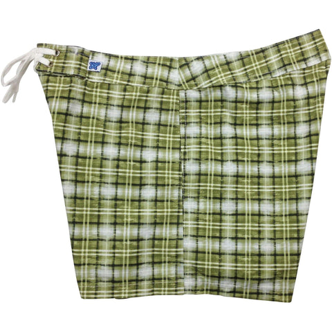 """Bankers Hours"" Board Shorts - Regular Rise / 5"" Inseam (Olive)"