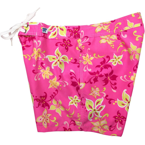 """Chick Flick Board Shorts - Regular Rise / 5"" Inseam (Pink, Midnite Navy, or Light Blue) *SALE* - Board Shorts World - 1"