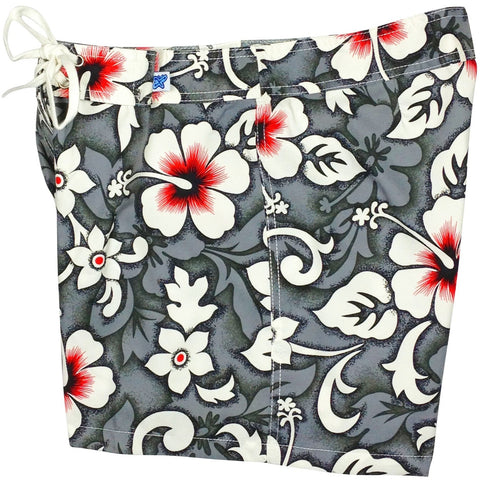 """Charm School"" Board Shorts - Regular Rise / 5"" Inseam (Charcoal, Blue or Red) *SALE* - Board Shorts World - 1"